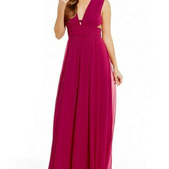 Badgley Mischka Dresses   Belle Nicola Georgette Gown   Poshmark